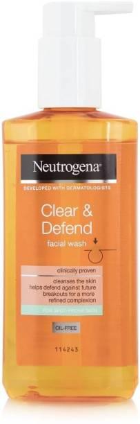NEUTROGENA Clear & Defend Facial Wash - 200ml Face Wash