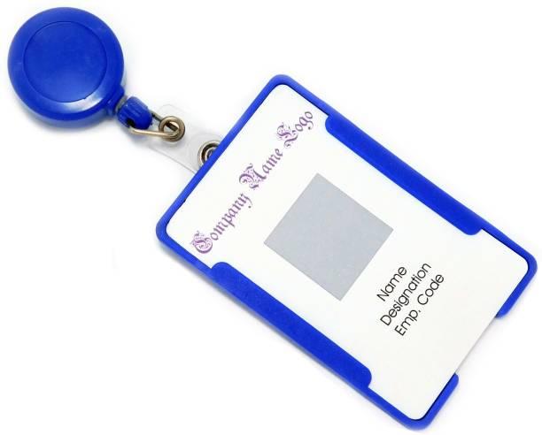 signistics Plastic ID Badge Holder, ID Badge Reel