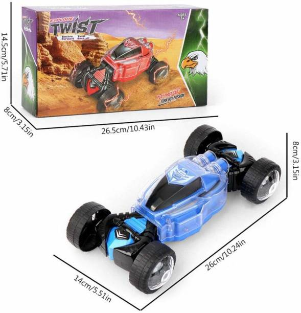 TinyTales Children's Toy Stunt Car,Twist Electric Deformation Car,with Light/Singing/Dancing Shaped Drift Toy Buggy,Suitable for Any Terrain.No Remote Control Electric Toy Car,Ideal Toy for Children