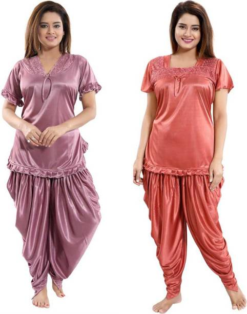 Classic Art Women Nighty Set
