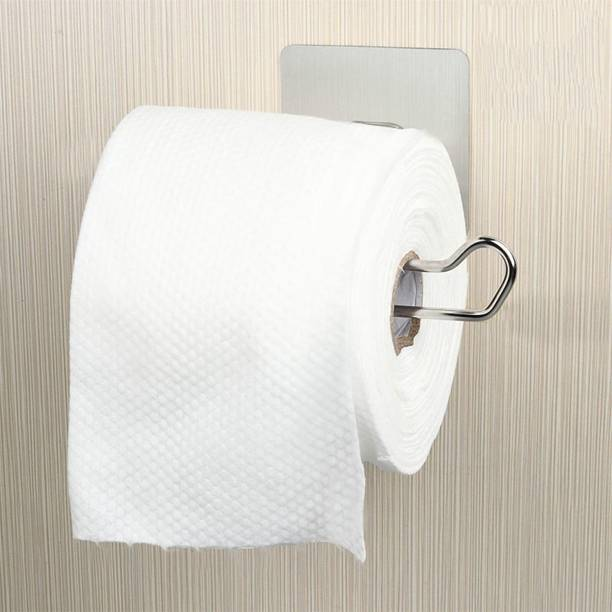 HOKiPO Magic Sticker Series No Drill SS Toilet Paper Holder in Bathroom Stainless Steel Toilet Paper Holder