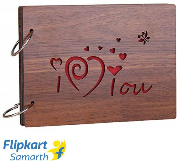 E DEAL N DISCOUNT Presents Wooden I LOVE YOU Scrapbook Photo Album