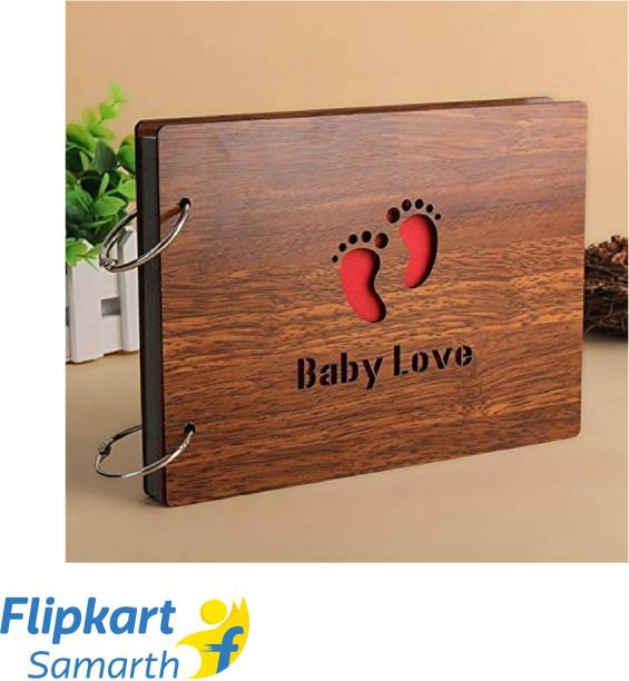 SHAFIRE BabyLove' Wood Pasted Photo Album (Brown) Album