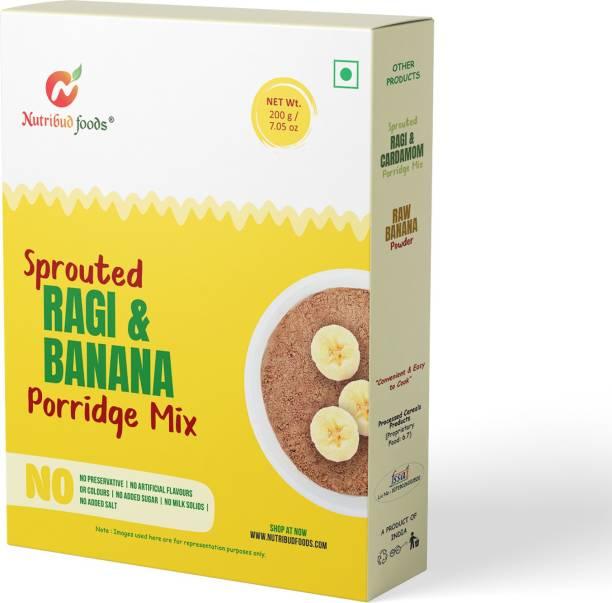 Nutribud Foods Sprouted Ragi & Banana Porridge Mix Cereal