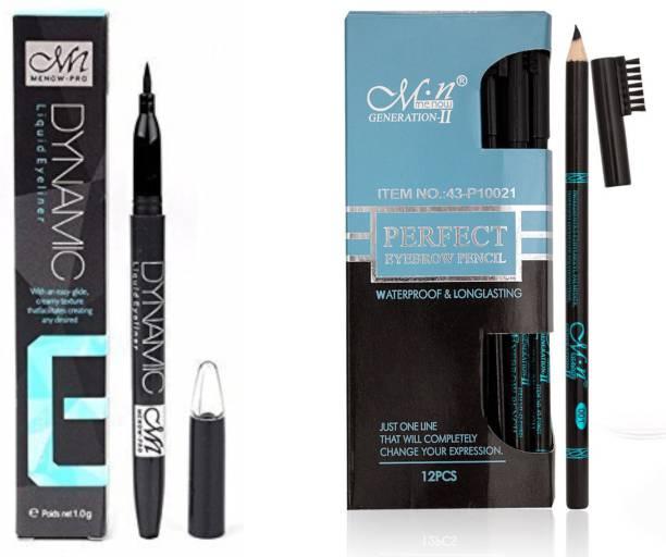 Menow Waterproof & Longlasting Eyebrow Pencil with Dynamic Sketch Eyeliner 10 g