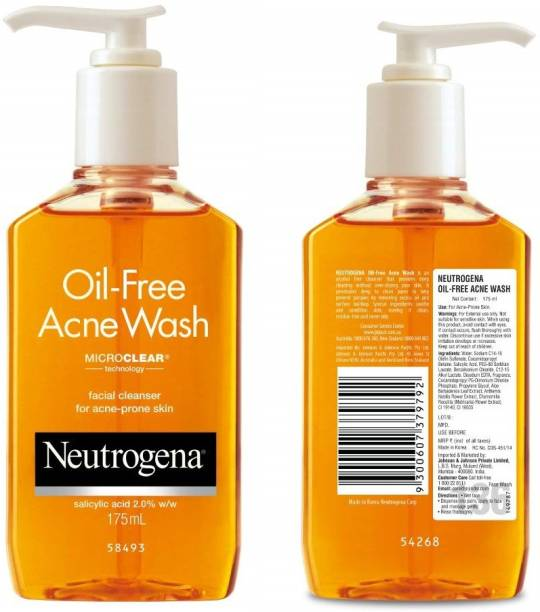 NEUTROGENA Oil Free Acne  Facial Cleanser Face Wash