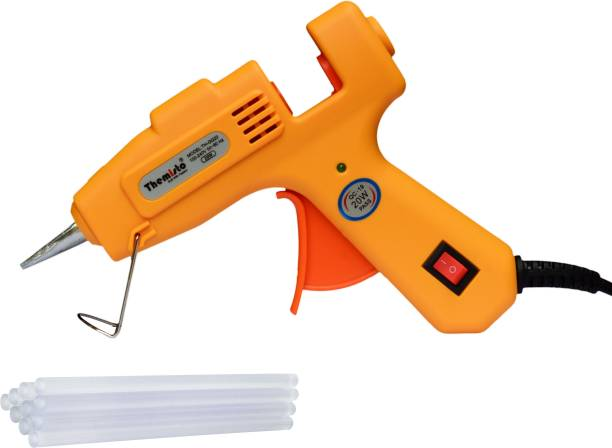tHemiStO 20 Watt Mini Hot Melt Glue Gun with 10 Glue Sticks For DIY Art And Crafts. Standard Temperature Corded Glue Gun