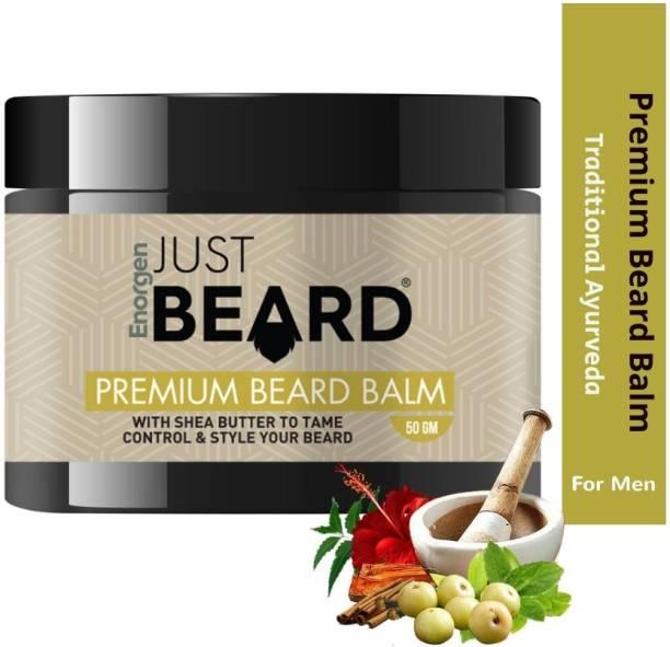 Enorgen JUSTBEARD Natural Premium Beard Balm with Shea Butter  Soften and Moisturizes Beard with Aloe Vera and Shea Butter Beard Cream