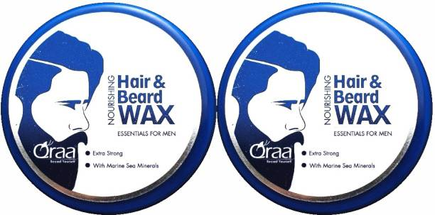 Qraa Men Hair and Beard Wax with Dead Sea Minerals   Strong Hold & Volume   Pack of 2 Hair Wax