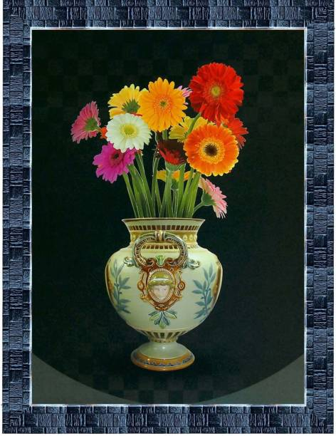 LiveArts Decorative Floral Art Digital Reprint 13.5 inch x 10.5 inch Painting