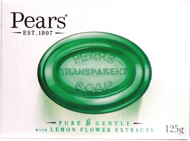 Pears Imported (Made in UK) Pure & Gentle With Lemon Flower Extracts 125g