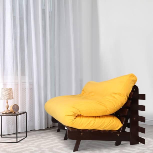ARRA Sofa cum bed Double Engineered Wood Futon