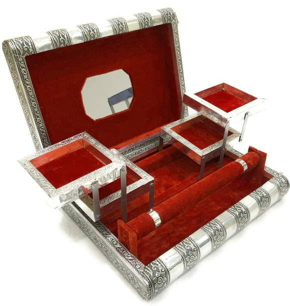 navrang Jewelry Box , Wedding Gift Box, Vanity Box, Rakhi Gift, Jewellery Organizer, Trinket Box , Jewellery Storage Box, Make up Box,Churi Box, Bangle Box jewellery Vanity Box