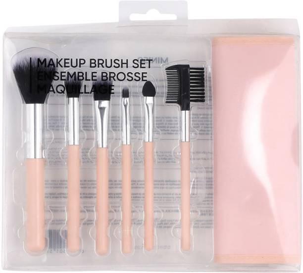MINISO Makeup Brush set 7PCS coral orange