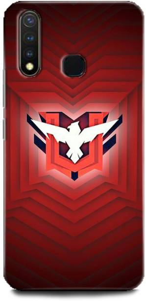 BARMANS Back Cover for Vivo Y19 / Free Fire, Free Fire logo, Free fire game