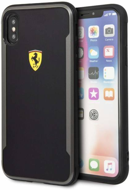 Ferrari Back Cover for Polycarbonate Back Cover for Apple iPhone XS Max - Black