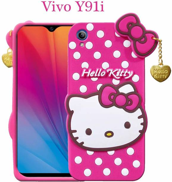 BOZTI Back Cover for Vivo Y90,Vivo Y91i Cute Hello Kitty Pink