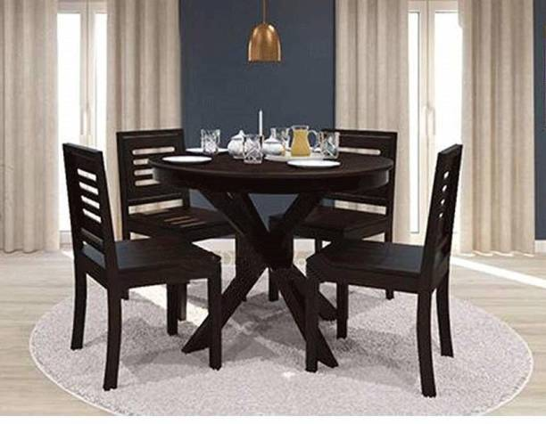 CORAZZIN Solid Wood 4 Seater Dining Set