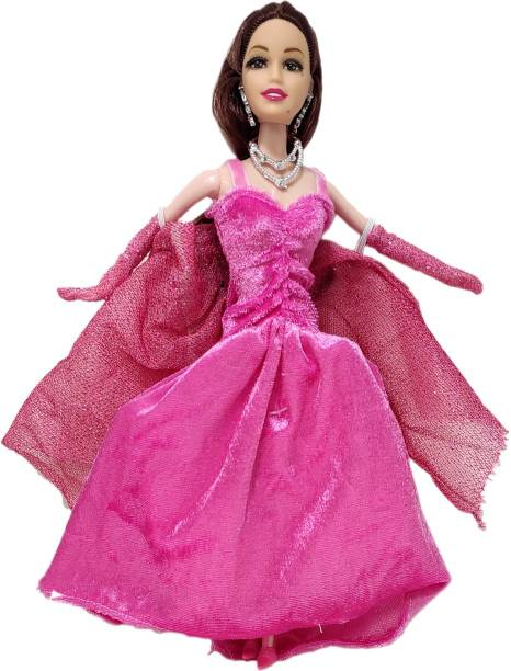 Kiddale Beautiful Fashionable Doll with Soft Velvet Pretty Party Gown