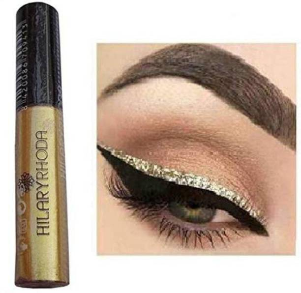 Hilary Rhoda Golden Glitter Long lasting Eyeliner and MM Black Liquid Waterproof Eyeliner 6 ml