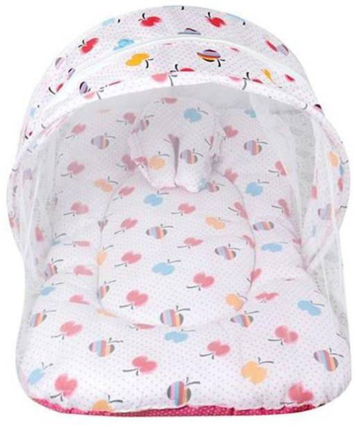 Ketsaal Polyester Infants Baby Mosquito Net Bed Pink Mosquito Net