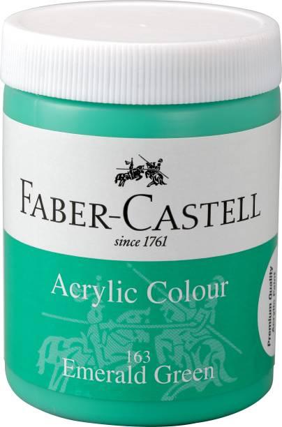 FABER-CASTELL Acrylic 140ml Jar - Emerald Green 163