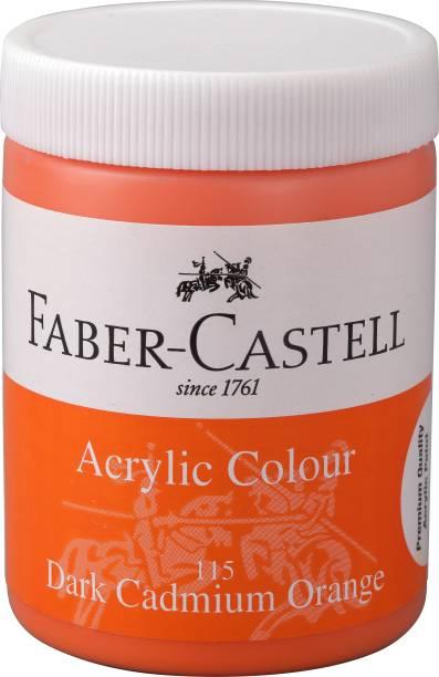 FABER-CASTELL Acrylic 140ml Jar - Dark Cadmium Orange 115