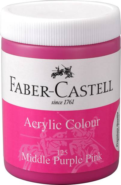 FABER-CASTELL Acrylic 140ml Jar - Middle Purple Pink 125