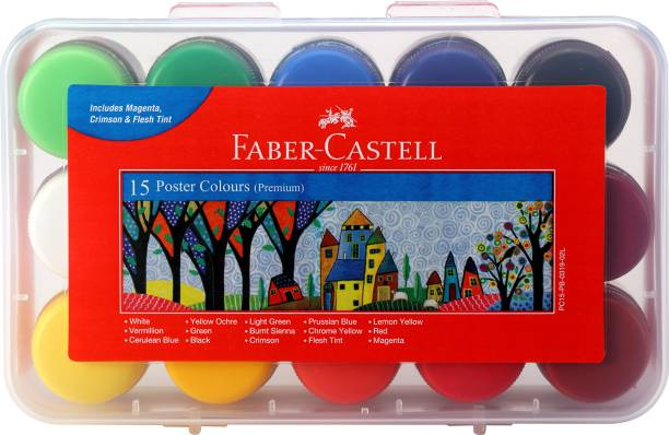 FABER-CASTELL 15 Poster Colours(Plastic Box)