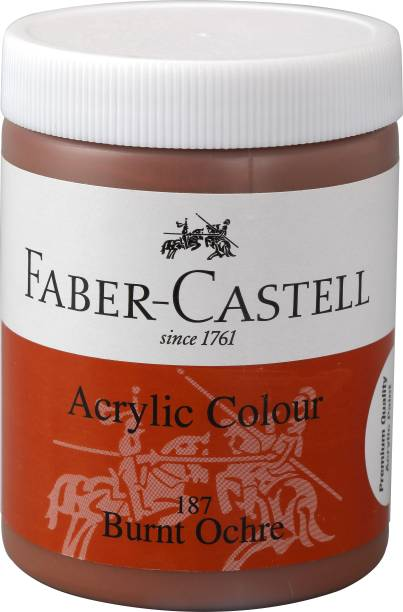 FABER-CASTELL Acrylic 140ml Jar - Burnt Ochre 187