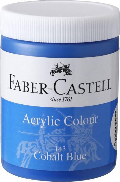 FABER-CASTELL Acrylic 140ml Jar - Cobalt Blue 143