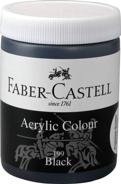 FABER-CASTELL Acrylic 140ml Jar - Black 199