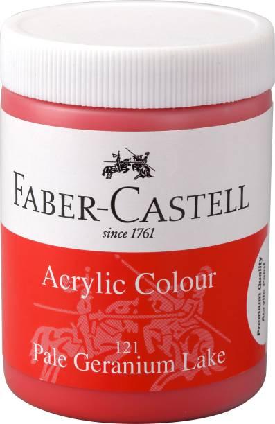 FABER-CASTELL Acrylic 140ml Jar - Pale Geranium Lake 121