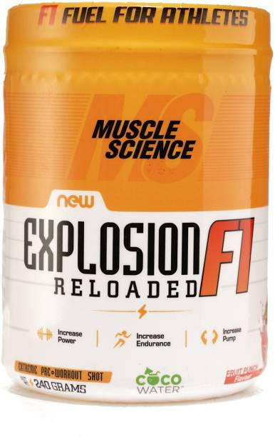Muscle Science Explosion F1 Reloaded Pre-Workout, 30 Serving With Free Shaker Creatine