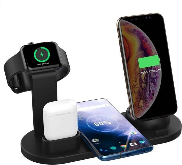 blue seed BBD 4 in 1 Wireless Charger Charging Stand Docking Station for iPhone, Type-c, Micro USB, Stand for Apple Watch Charging Dock Charging Pad