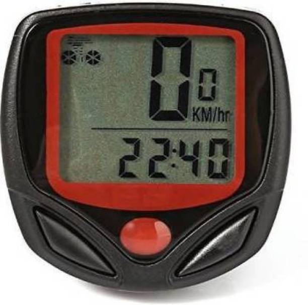 Afpin Speedometer functions - Current Speed, Odometer, Trip Distance, Max/Avg Speed Wired Cyclocomputer