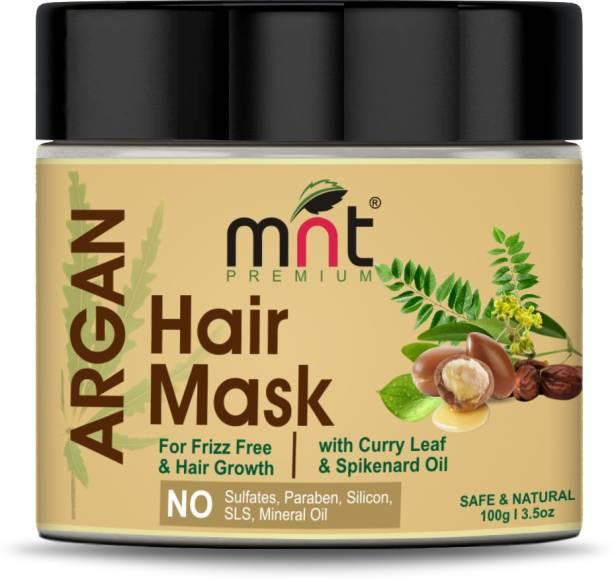 MNT Argan Hair Mask with Curry Leaf & Spikenard Oil (100g) for Damaged Hair Repair, Hair Growth & Frizz free Hair