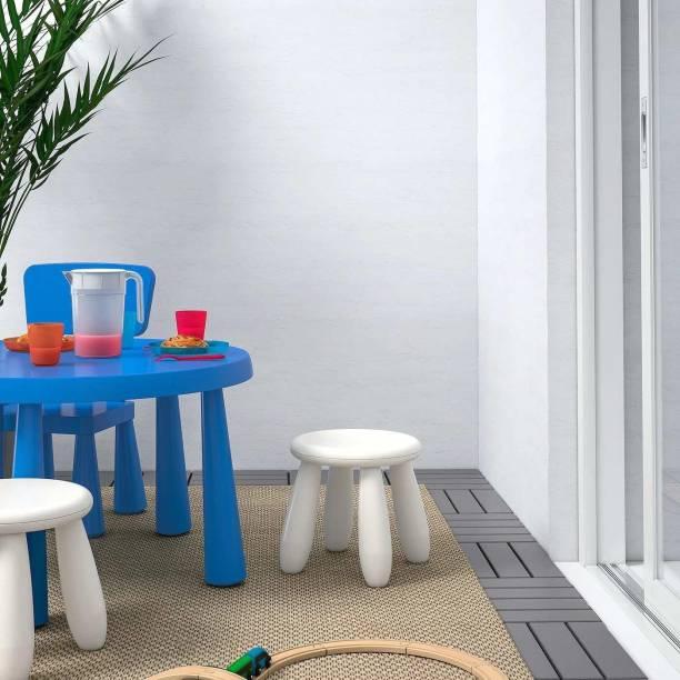 IKEA Children's Stool, in/Outdoor (White) Plastic Stool