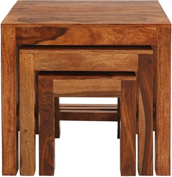 Amaltas Solid Wood Nesting Table