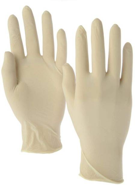 Tayal Hand Safety Gloves/Latex Medical Examination Anti germs Hand Gloves [Pairs of 5] Latex  Safety Gloves