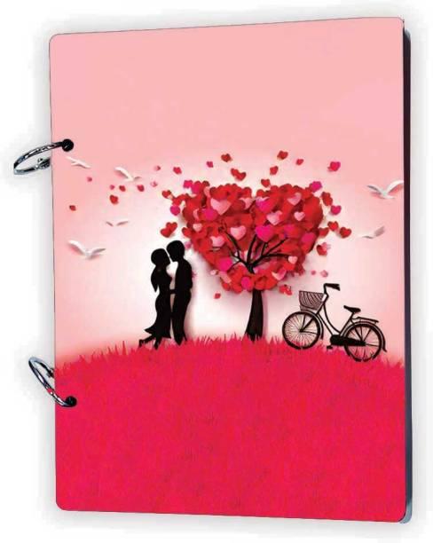 100yellow Romantic Couple Multicolor 20 Pages Theme,  Scrapbook Kit