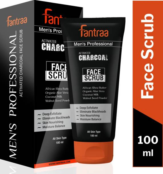 Fantraa Activated Charcoal Face  Scrub