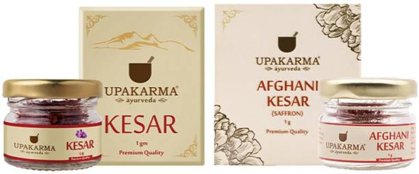 UPAKARMA Afghani and Kashmiri Kesar Combo with 1g Kesar Kashmiri Kesar & 1g Afghani Kesar