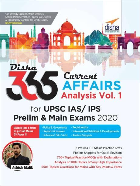 Disha 365 Current Affairs Analysis for Upsc IAS/ Ips Prelim & Main Exams 2020