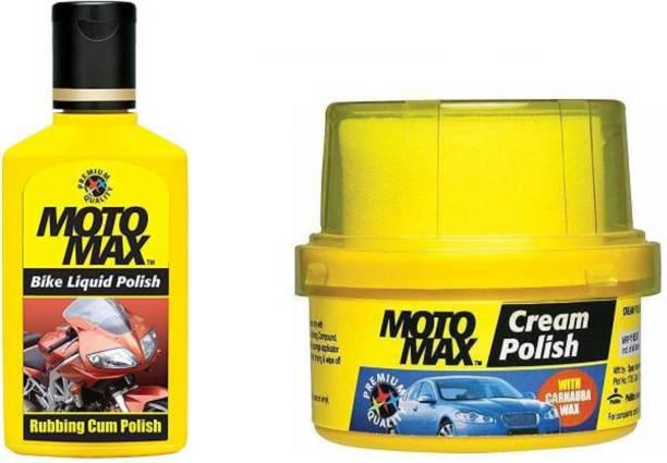Motomax Paste Car Polish for Exterior, Metal Parts