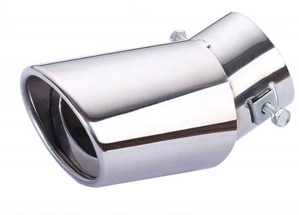 Znee Smart Universal Fit Car Straight Oval Shaped Exhaust Tail Muffler Tip Pipe 60mm  Car Silencer