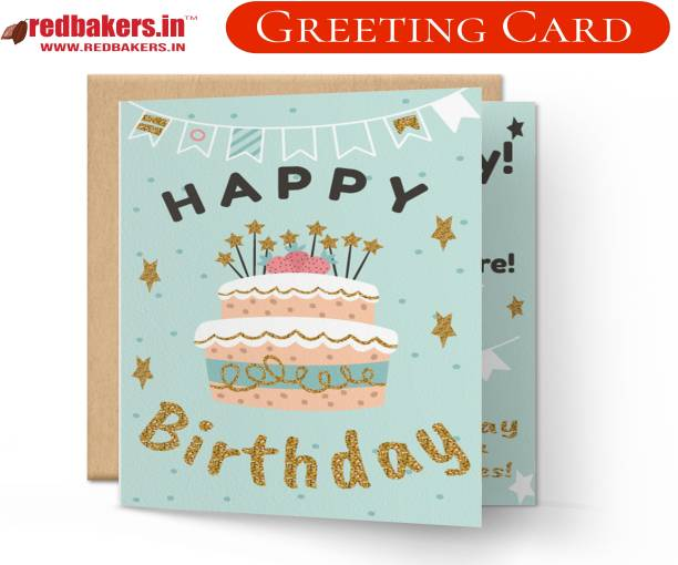 redbakers.in Happy Birthday Special Day Greeting Card Greeting Card