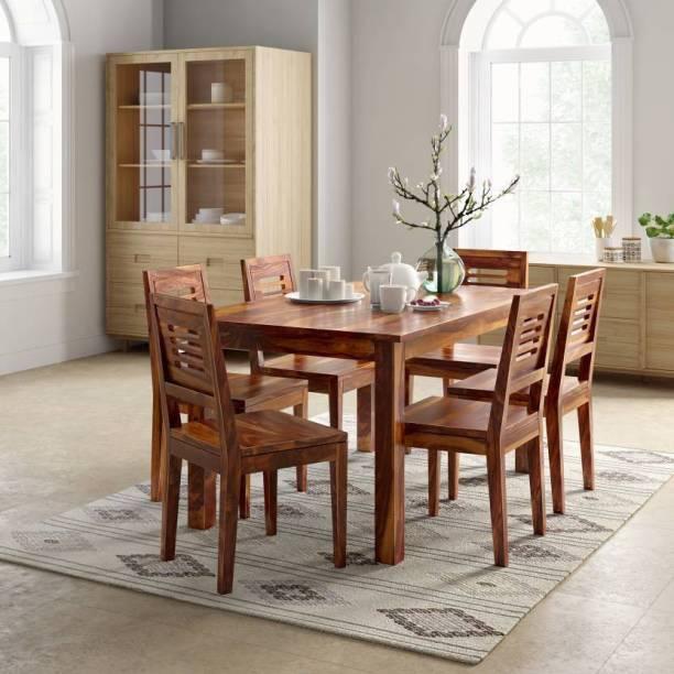 Home Edge Karent Sheesham Solid Wood 6 Seater Dining Set