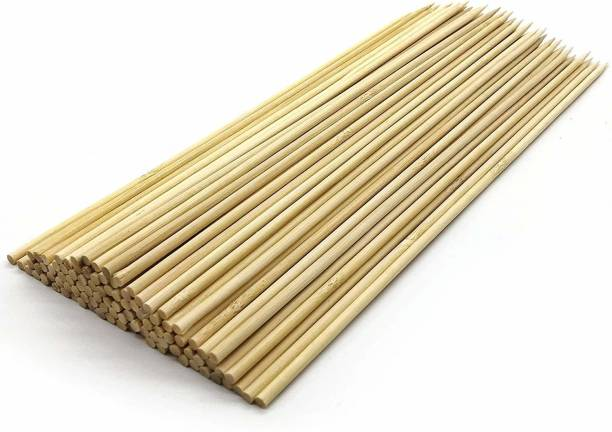 ZEONELY MART 12 inch bambo sticks Disposable Wooden, Bamboo Roast Fork Set