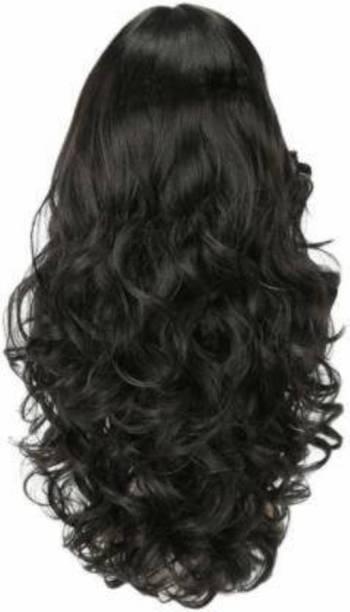 D-DIVINE Black Clip in Wavy Hair Extension